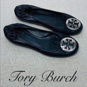 TORY BURCH SIZE 9.5 BLACK BALLET FLATS